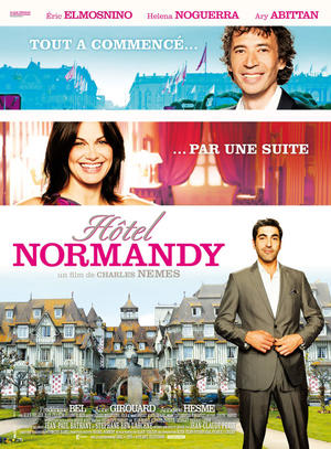 """Poster art for """"Hotel Normandy."""""""
