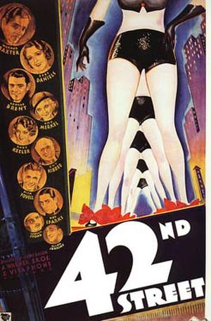 "Poster art for ""42nd Street."""