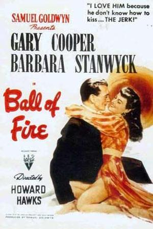 "Poster art for ""Ball of Fire."""
