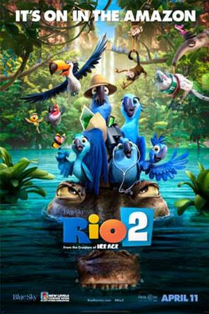 "Poster art for ""Rio 2 3D."""