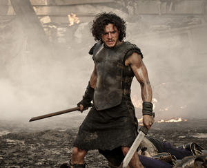"Kit Harington in ""Pompeii."""