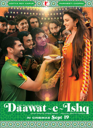 "Poster art for ""Daawat-E-Ishq."""