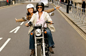 "Anushka Sharma and Shah Rukh Khan in ""Jab Tak Hai Jaan."""