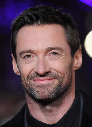 "Hugh Jackman at the world premiere of ""Les Miserables"" in London."