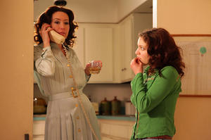 "Molly Parker as Donna and Olivia Harris as Maggie in ""The Playroom."""