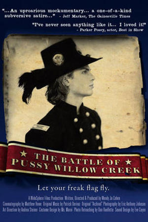 """Poster art for """"The Battle of Pussy Willow Creek."""""""
