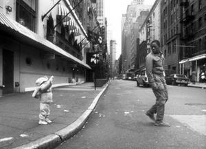 """A scene from """"Sidewalk Stories."""""""