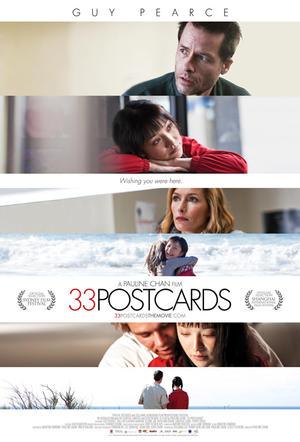"Poster art for ""33 Postcards."""