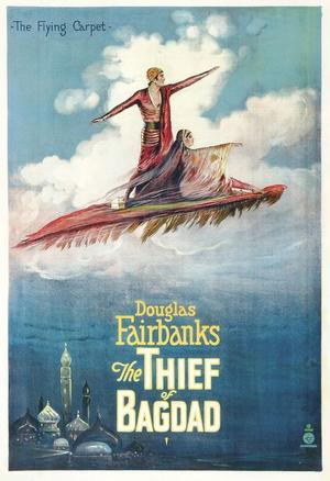 "Poster art for ""The Thief of Bagdad."""