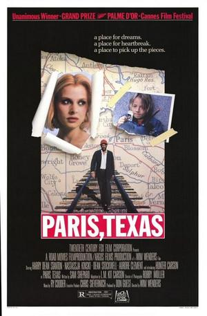 "Poster art for ""Paris, Texas."""