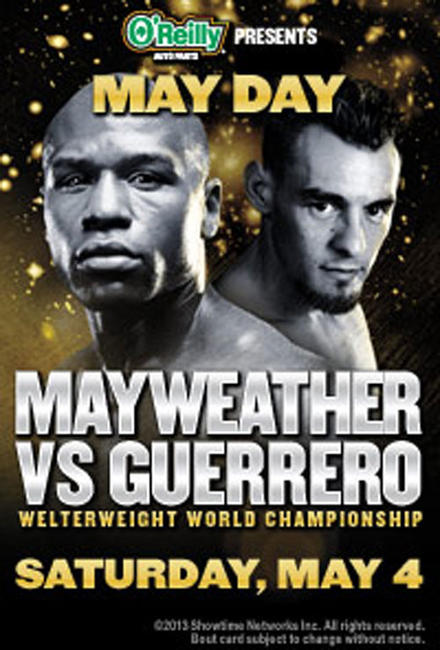 May Day: Mayweather vs Guerrero Photos + Posters