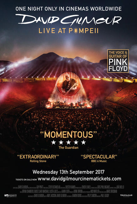 DAVID GILMOUR LIVE AT POMPEII Photos + Posters