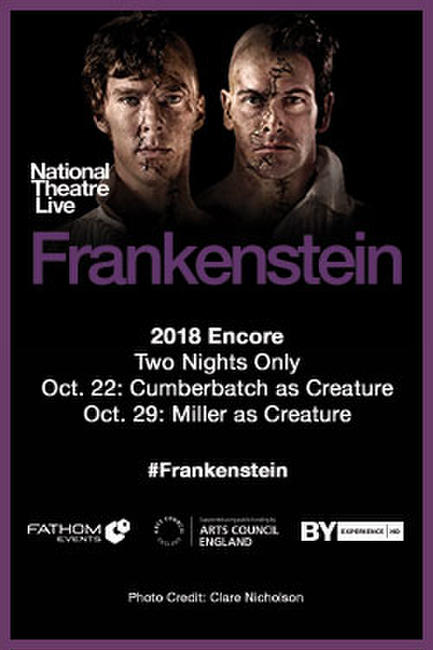 NT LIVE: FRANKENSTEIN Cumberbatch as Creature (2018 Encore) Photos + Posters