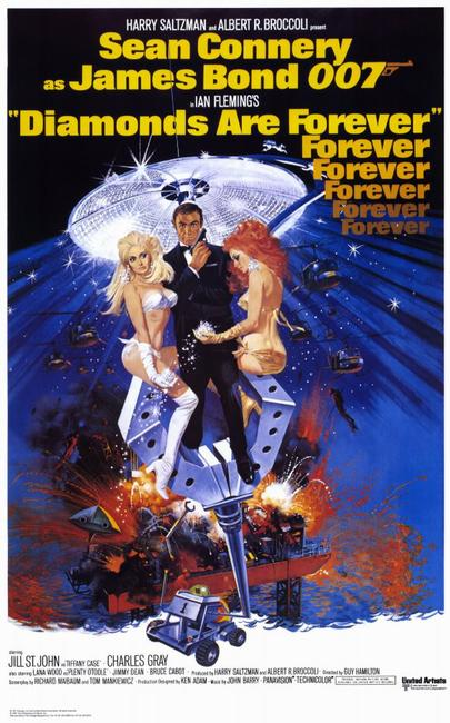 DIAMONDS ARE FOREVER / THE MAN WITH THE GOLDEN GUN Photos + Posters
