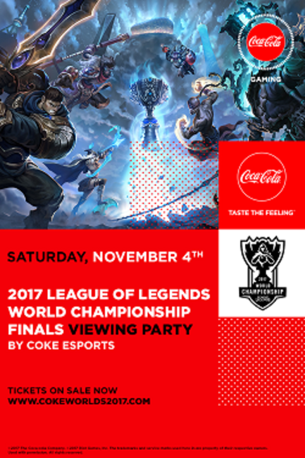 2017 League of Legends World Championship Finals Viewing Party by Coke Esports Photos + Posters