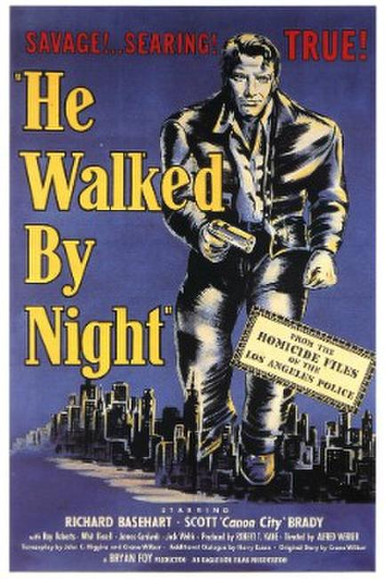 HE WALKED BY NIGHT/DOWN THREE DARK STREETS Photos + Posters