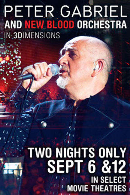 Peter Gabriel: New Blood Orchestra in 3D Photos + Posters