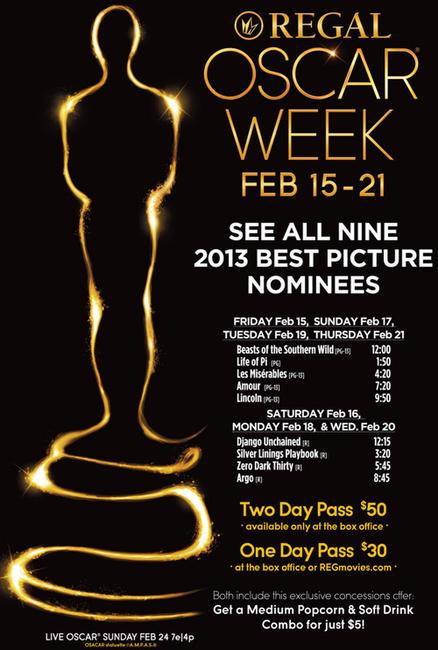 Regal Oscar Movie Week Photos + Posters