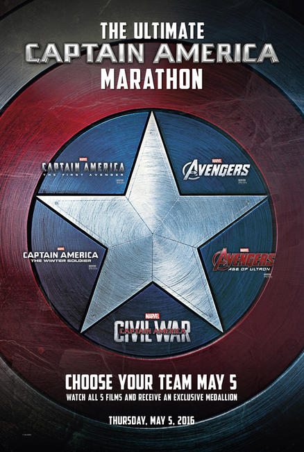 Captain America Marathon Photos + Posters