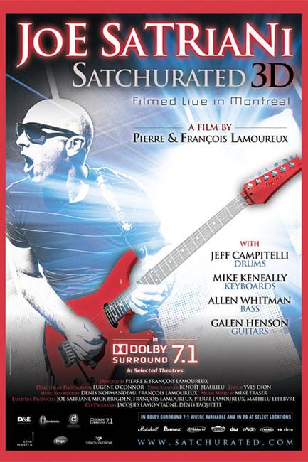 Joe Satriani: Satchurated 3D Photos + Posters