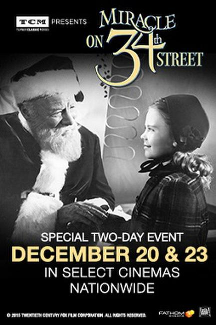 TCM presents Miracle on 34th Street Photos + Posters