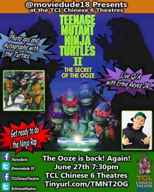 Moviedude18: TMNT II: Secret of the Ooze w/ Q&A Photos + Posters