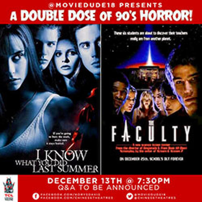Live Q&A and Double Feature of I Know What You Did Last Summer and The Faculty Photos + Posters