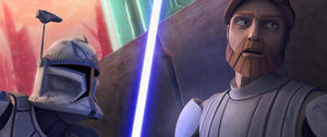 "A scene from ""Star Wars: The Clone Wars."""