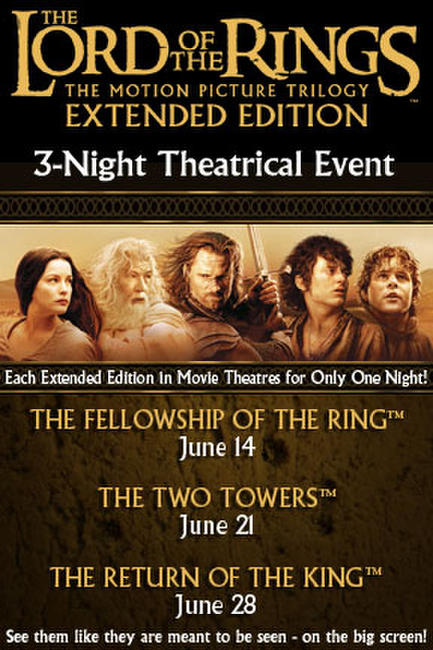 Lord of the Rings: The Fellowship of the Ring Extended Edition Event Photos + Posters