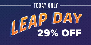 <b>Use Code LEAP29 For 29% Off</b>