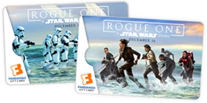 <b>'Rogue One' Gift Cards</b>